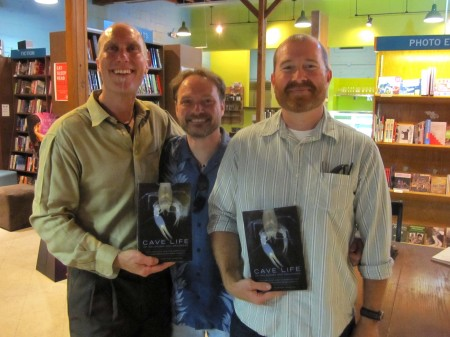 The three authors at a book signing event in Fayetteville, Arkansas.  From left to right: Graening, Fenolio, and Slay.