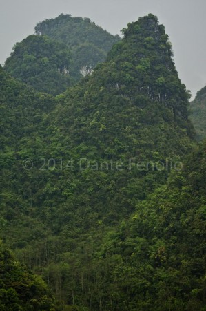 Guangxi is loaded with beautiful karst landscapes.  This is Cone Karst.