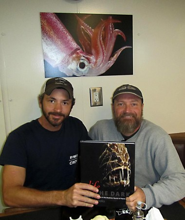 Have been able to share the book with some special folks - this is Captian Nick of the RV Point Sur.