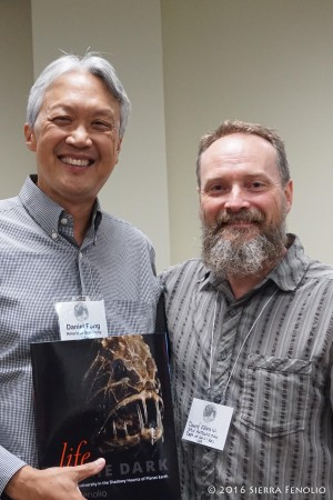 With Dr. Dan Fong at Cave Biology Meeting, Fayetteville AR - 2016